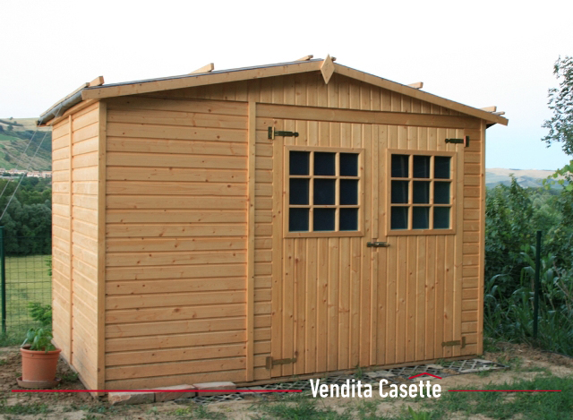 Casetta in legno fano 3x3 - Prefabbricati da giardino ...