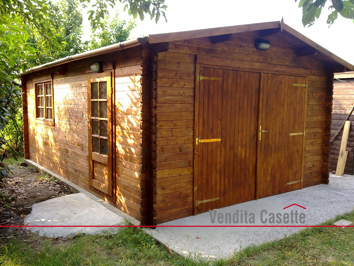 Garage in legno 4x6 for Garage con veranda