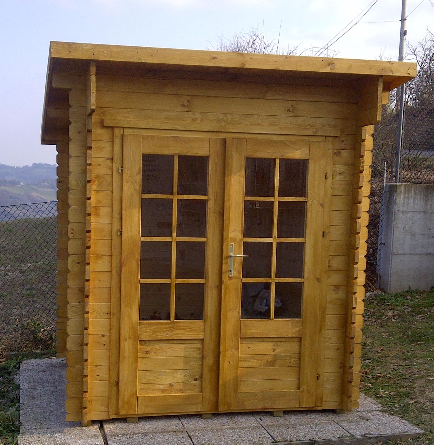 Case e casette prefabbricate in legno for Impregnante per legno esterno prezzi