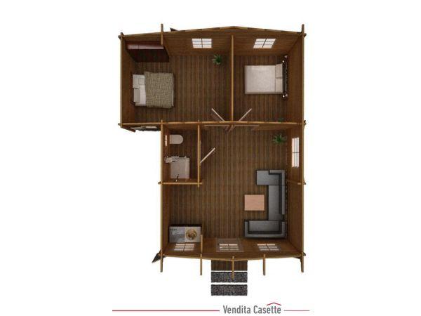 Casa in legno trentino for Planimetrie della casetta con seminterrato di sciopero