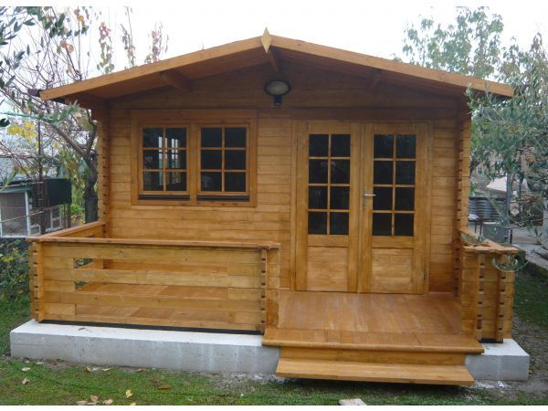 Casette di legno 35mm economiche for Cerco casetta in legno da giardino usata